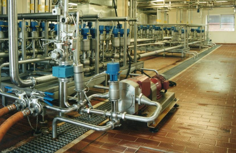 Floor drains in production areas can be monitored for product loss