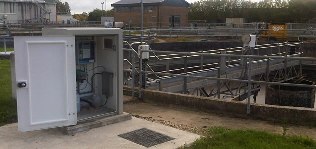 Proam final effluent monitoring kiosk (grey)